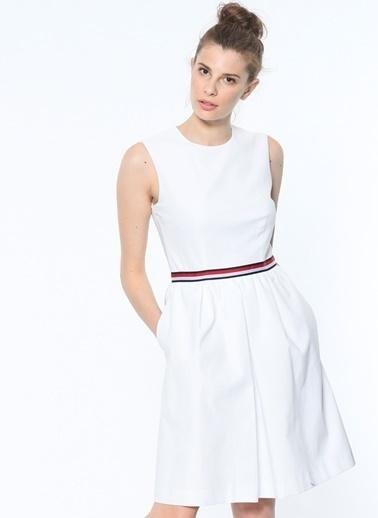 Kolsuz Fermuarlı Kısa Elbise-Tommy Hilfiger